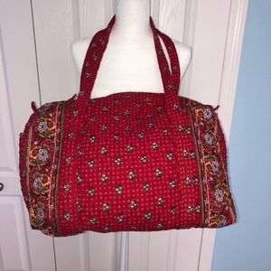 Vera Bradley Large Duffle Red Design Luggage